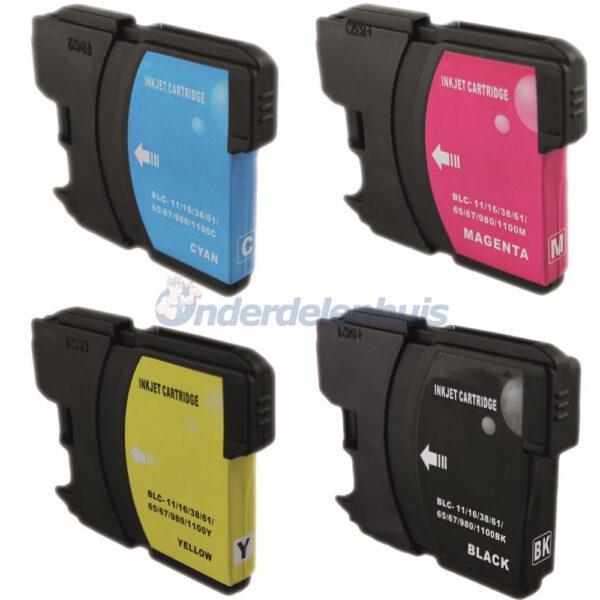 Brother Inkt Multipack Inksave Inktpatroon LC980/1100 Inkt cartridge