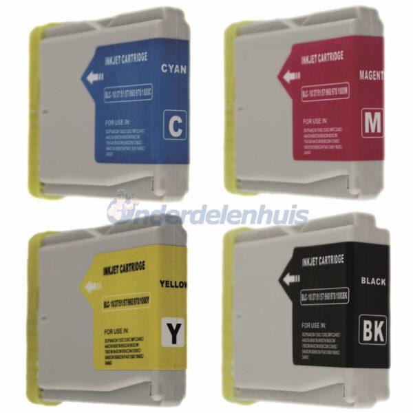 Inkt Brother Multipack LC970/1000 Inktpatroon Inksave Inkt cartridge