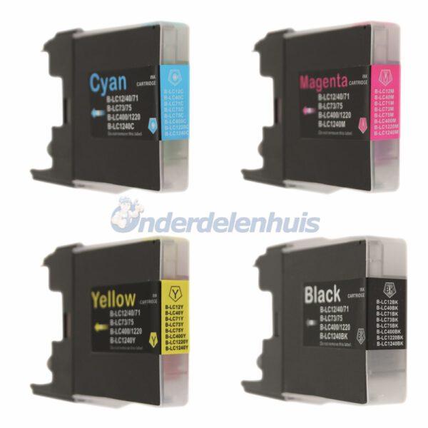 Inkt Brother Multipack LC1240 LC1280 Inkt cartridge inktpatroon