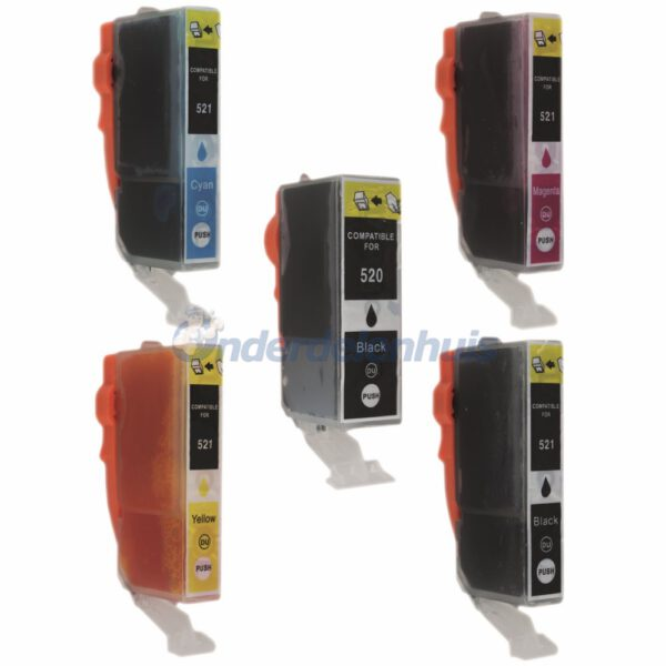 Inksave Canon PGI 520 CLI 521 Inktpatroon Inkt Multipack