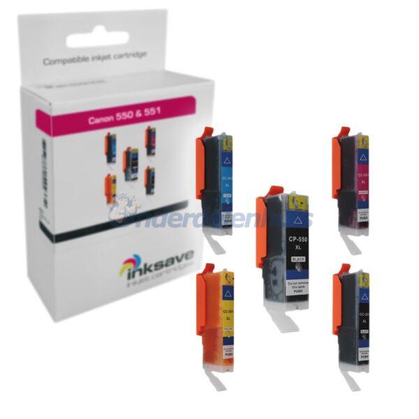 Inksave Canon PGI550 CLI551 Inkt Multipack
