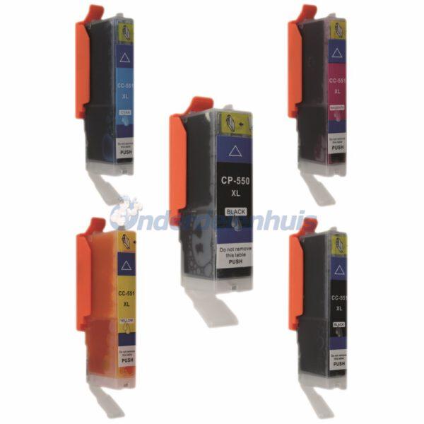Inksave Inkt cartridge Canon PGI550 CLI551 Inkt Multipack