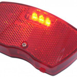 Fietsachterlicht Edge City 3 LEDs inclusief batterijen