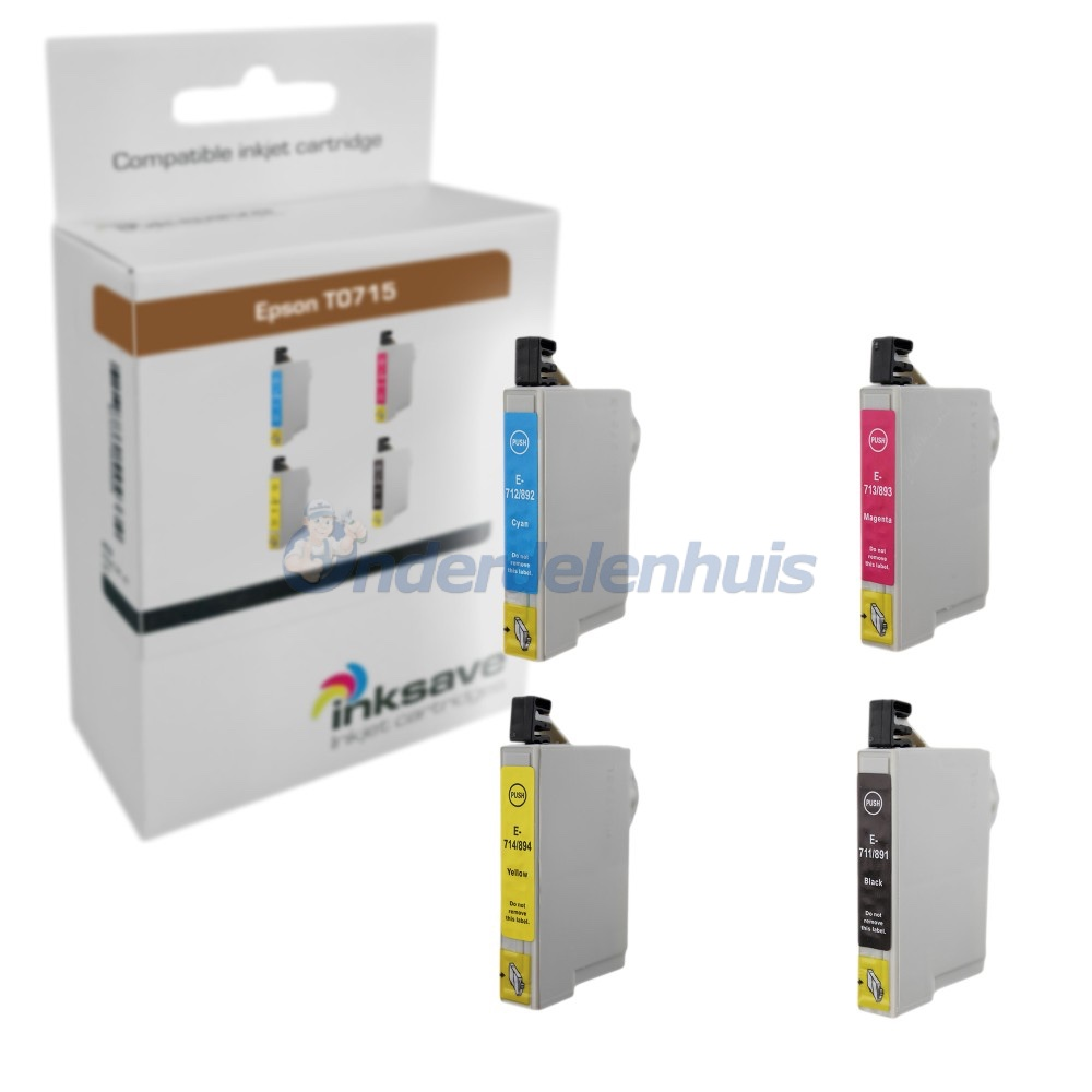 Inksave Epson T0715 Inkt Multipack