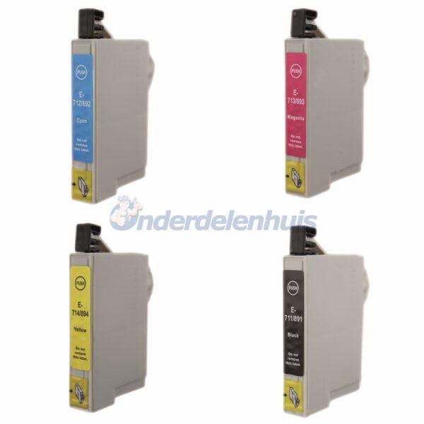 Inksave Epson T0715 Inkt Multipack Inkt cartridge Inktpatroon