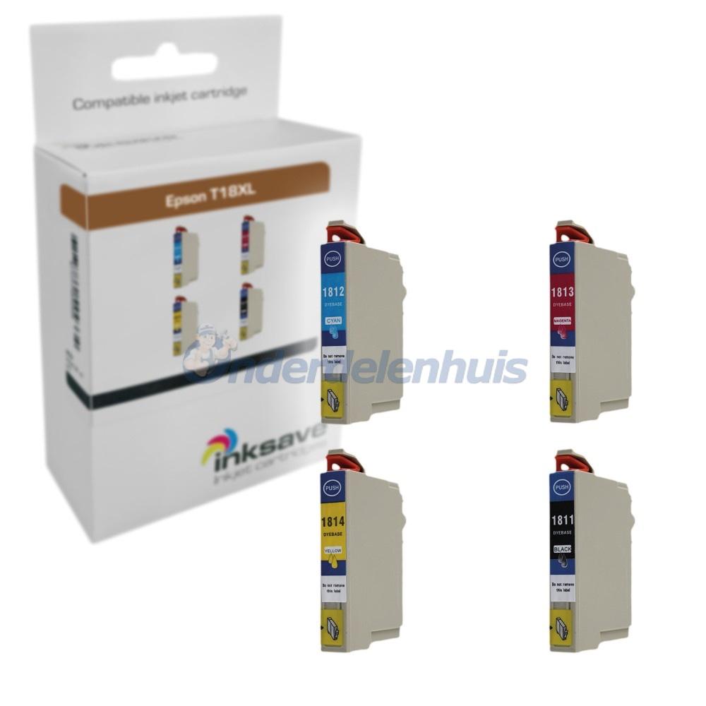 Inksave Epson 18XL T1816 Multipack Inkt Inktpatroon