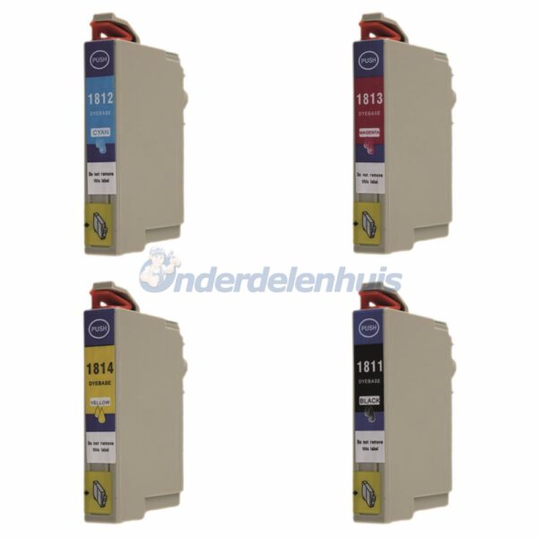 Inksave Epson 18XL T1816 Inkt cartridge Multipack Inkt Inktpatroon