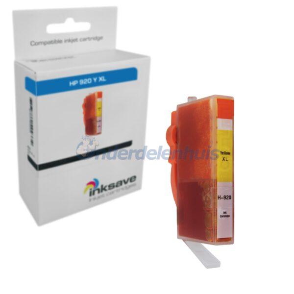 Inksave HP 920Y Geel Inkt Inktpatroon