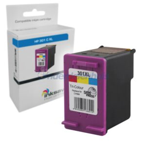 Inksave HP 301 Kleur Inktpatroon Inkt cartridge