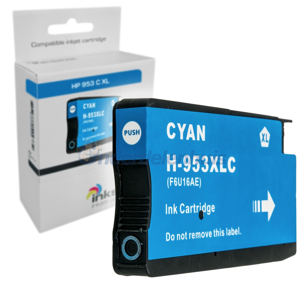 Inksave HP 953C Inkt Inktpatroon Cyaan