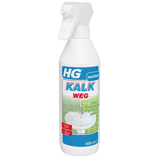 HG kalkweg schuimspray 500 ml met krachtige groene geur