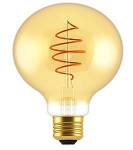 LED GLOBE G200 FILAMENT SPIRAAL GOLD E27 8,5W 2000K DIMBAAR