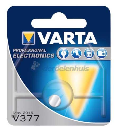 Varta V377 SR66 1,55V knoopcel batterij VT377101401-1